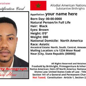 Moorish Nationality Card 2019